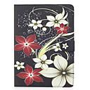preiswerte iPad Hüllen / Cover-Hülle Für Apple Geldbeutel / Kreditkartenfächer / mit Halterung Ganzkörper-Gehäuse Blume Hart PU-Leder für iPad Air / iPad 4/3/2 / iPad Air 2