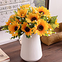 tanie Przybory i gadżety do pieczenia-Sztuczne Kwiaty 1 Gałąź Pasterski Styl Słoneczniki Bukiety na stół
