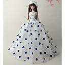 ieftine Haine Păpușă Barbie-Rochie de papusa Petrecere / Seară Pentru Barbie Buline Dantelă organza Smoching Pentru Fata lui păpușă de jucărie