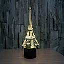 ieftine Ceasuri Bărbați-turn 3 d lampă stereo vizuală creativă lămpii Lampa de proiecție lămpi tactil