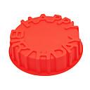 hesapli Fırın Araçları ve Gereçleri-Bakeware araçları Silikon Kauçuk Çevre-dostu / Yapışmaz / 3D Ekmek / Kek / Tart Pişirme Kalıp