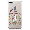 저렴한 Xbox 360 악세서리-케이스 제품 Apple iPhone 7 Plus iPhone 7 IMD 투명 패턴 뒷면 커버 유니콘 소프트 TPU 용 iPhone 7 Plus iPhone 7 iPhone 6s Plus iPhone 6s iPhone 6 Plus iPhone 6