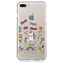 baratos Capinhas para iPhone-Capinha Para Apple iPhone 7 Plus iPhone 7 IMD Transparente Estampada Capa traseira Unicórnio Macia TPU para iPhone 7 Plus iPhone 7 iPhone