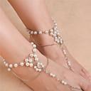 preiswerte Körperschmuck-Damen Perlen Barfußsandalen Künstliche Perle Blume damas Modisch Fusskettchen Schmuck Gold / Silber Für Alltag Normal