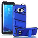 voordelige Galaxy S-serie hoesjes / covers-hoesje Voor Samsung Galaxy S8 Plus S8 Schokbestendig met standaard Achterkant Effen Kleur Hard PC voor S8 Plus S8 S7 edge S7