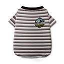 cheap Dog Clothing & Accessories-Dog Shirt / T-Shirt Dog Clothes Stripes Gray Rainbow Cotton Costume For Summer Men's Women's Casual / Daily Fashion
