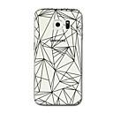 abordables Coques / Etuis pour Galaxy Série S-Coque Pour Samsung Galaxy S8 Plus S8 Transparente Motif Coque Lignes / Vagues Formes Géométriques Flexible TPU pour S8 Plus S8 S7 edge S7