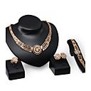 preiswerte Halsketten-Damen Schmuck-Set - Strass, vergoldet Personalisiert, Luxus, Retro Einschließen Gold Für Party / Besondere Anlässe / Einweihungsparty