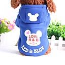 Недорогие Рождественские костюмы для домашних животных-Собака Толстовки Одежда для собак Мультипликация Хлопок Костюм Для домашних животных На каждый день