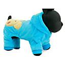 hesapli Köpek Giyim ve Aksesuarları-Köpek Kapüşonlu Giyecekler Köpek Giyimi Karton Fuşya / Mavi Peluş Kumaş Kostüm Evcil hayvanlar için Günlük / Sade