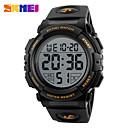 رخيصةأون Switches-SKMEI رجالي ساعة رياضية ساعة رقمية رقمي جلد اصطناعي أسود / أخضر ساعة كاجوال رقمي سحر - أخضر أزرق ذهبي سنتان عمر البطارية / Maxell626 + 2025