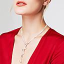 hesapli Kolyeler-Kadın's kement Zincir Kolyeler / Y kolye - Som Gümüş, Gümüş Top Kişiselleştirilmiş, Moda, Uzun (L) Gümüş Kolyeler Mücevher Uyumluluk Parti, Hediye, Günlük