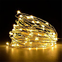 ieftine Cercei-5m Fâșii de Iluminat 50 LED-uri Alb Cald / Alb / Roșu <5 V