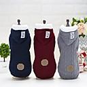 preiswerte Bekleidung & Accessoires für Hunde-Hund Mäntel Kapuzenshirts Weihnachten Hundekleidung Solide Grau Rot Blau Wollen Plüsch Terylen Kostüm Für Haustiere Lässig/Alltäglich