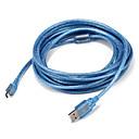 hesapli AC Adaptör ve Güç Kabloları-USB 2.0 Kablo, USB 2.0 to Mini USB Kablo Erkek - Erkek 5.0m (16ft)
