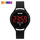 رخيصةأون قلادات-SKMEI نسائي ساعة رياضية ساعة رقمية رقمي جلد اصطناعي أسود / أزرق / أحمر عرض ساخن رقمي سحر - أحمر أخضر أزرق سنتان عمر البطارية / Maxell SR626SW + CR2025