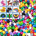 cheap Beads & Beading-Approx 500PCS/Bag 5MM Mixed Color Fuse Beads Hama Beads DIY Jigsaw EVA Material Safty for Kids