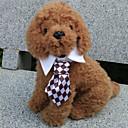 hesapli Köpek Giyim ve Aksesuarları-Kedi Köpek Düğüm/Papyon Bağı Köpek Giyimi Siyah Kahve Kırmzı Yeşil Gökküşağı Terylene Kostüm Evcil hayvanlar için Erkek Cosplay Düğün