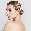 ieftine Bijuterii de Păr-Pentru femei Floare / Petrecere / Nuntă, Perle / Imitație de Perle / Aliaj Clips / Agrafe de păr