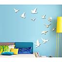 hesapli Duvar dekorasyonu-Dekoratif Duvar Çıkartmaları - Duvar Stikerları Hayvanlar / 3D Oturma Odası / Yatakodası / Yıkanabilir