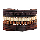 cheap Rings-Men's Strand Bracelet / Wrap Bracelet - Leather Personalized, Fashion Bracelet Brown For Street