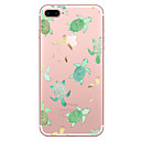 baratos Capinhas para iPhone-Capinha Para Apple iPhone X / iPhone 8 Transparente / Estampada Capa traseira Animal Macia TPU para iPhone X / iPhone 8 Plus / iPhone 8