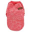 abordables Vêtements & Accessoires pour Chien-Chat Chien Manteaux Tee-shirt Sweatshirt Vêtements pour Chien Couleur Pleine Café Rouge Vert Bleu Rose Polaire Coton Costume Pour les