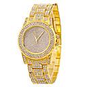 preiswerte Damenuhren-Damen Armbanduhr Armbanduhren für den Alltag / Cool Edelstahl Band Freizeit / Modisch Silber / Gold / Rotgold