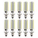 preiswerte LED Kerzen-Glühbirnen-BRELONG® 10 Stück 8W 700lm LED Mais-Birnen 152 LED-Perlen SMD 3014 Abblendbar Warmes Weiß Weiß 220V 110V