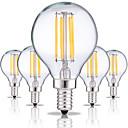olcso LED gömbbúrás izzók-5pcs 4W 360lm E14 Izzószálas LED lámpák G45 4 LED gyöngyök COB Dekoratív Meleg fehér / Hideg fehér 220-240V