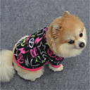 cheap Dog Clothing & Accessories-Dog Sweatshirt Dog Clothes Geometic Black / Purple / Fuchsia Polar Fleece Costume For Pets Casual / Daily