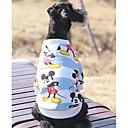 tanie Ubranka i akcesoria dla psów-Psy Bluza dresowa Ubrania dla psów Kreskówki Niebieski Różowy Bawełna Kostium Na Wiosna i jesień Codzienne