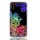 cheap iPhone Cases-Case For Apple iPhone X / iPhone 8 Plus Plating / IMD / Pattern Back Cover Lace Printing / Flower Soft TPU for iPhone X / iPhone 8 Plus / iPhone 8