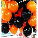 ieftine Ornamente de Petrecere-50pieces combo balon halloween 10 inci 2,2 grame de baloane inferioare netede de culoare portocalie și negre