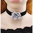 זול שרשרת אופנתית-בגדי ריקוד נשים שרשראות מחרוזת פרח נשים קלסי מקסים שחור שרשראות תכשיטים עבור קזו'אל שלב תחפושות קוספליי