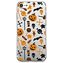رخيصةأون تزيين المنزل-غطاء من أجل Apple iPhone X / iPhone 8 Plus / iPhone 8 شفاف / نموذج غطاء خلفي قرميدة / كارتون / Halloween ناعم TPU