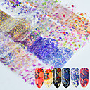 cheap Makeup & Nail Care-16 pcs 3D Nail Stickers Nail DIY Tools Full Nail Stickers nail art Manicure Pedicure 3D Fashion Daily / Lace Sticker