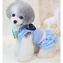 billige Hundetøj og tilbehør-Hund Kjoler Hundetøj Prinsesse Blå Lys pink Bomuld Kostume Til Forår & Vinter Herre Dame Afslappet / Hverdag