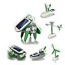 ieftine Modele Ecran-6 IN 1 Robot Jucării Încărcate Solar Aeronavă Moara de vant Navă Alimentat solar Reparații Educație Pentru copii Jucarii Cadou 1 pcs