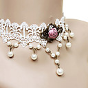 Buy Lolita Jewelry Classic/Traditional Necklace Princess White Accessories Lace Alloy