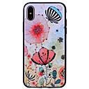 זול מחזיקים ומרכבים-מגן עבור Apple iPhone X / iPhone 8 תבנית כיסוי אחורי פרח רך סיליקון ל iPhone X / iPhone 8 Plus / iPhone 8
