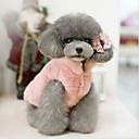 tanie Naklejki na paznokcie-Kot Psy Święta Ubrania dla psów Solidne kolory Beżowy Fuksja Różowy Bawełna Kostium Na Wiosna i jesień Zima Sukienki i spódnice Codzienne Ogrzewacze