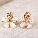 preiswerte Ohrringe-Damen Klips - Strass Blume Gold Für Party / Alltag
