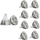 abordables Luces LED de Doble Pin-10pcs 3 W 250 lm MR16 Focos LED 3 Cuentas LED LED de Alta Potencia Decorativa Blanco Cálido Blanco Fresco 12 V / Cañas