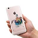 Недорогие Кейсы для iPhone-Кейс для Назначение Apple iPhone X / iPhone 8 / iPhone 8 Plus Ультратонкий / Прозрачный / С узором Кейс на заднюю панель Животное Мягкий ТПУ для iPhone 8 Pluss / iPhone 8 / iPhone SE / 5s