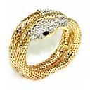 cheap Women's Watches-Women's Wrap Bracelet - Rhinestone Snake Bracelet Gold / Silver For Party Stage