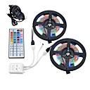 preiswerte LED Lichtstreifen-10m Lichtsets 600 LEDs 3528 SMD 1 12V 6A Adapter / 1 44Tastenfernbedienung RGB Schneidbar / Wasserfest / Dekorativ 12 V 1set / IP65 / Verbindbar / Selbstklebend