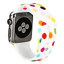 Недорогие Товары для ухода за собаками-Ремешок для часов для Apple Watch Series 4/3/2/1 Apple Спортивный ремешок силиконовый Повязка на запястье