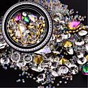 hesapli Ofis Malzemeleri-1 pcs Tırnak Araçları Kristal / Çok-tonlu / Özel Tasarım tırnak sanatı Manikür pedikür Doğumgünü / Günlük Şık / Moda / Sevimli