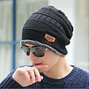 رخيصةأون ساعات الرجال-الشتاء أسود قبعة مرنة لون سادة رجالي-رياضي محبوك كنزة,عمل